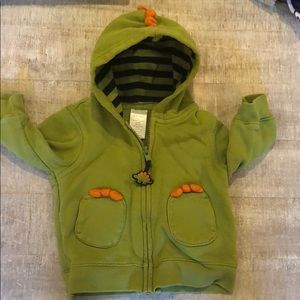 Gymboree 6-12 Month Dinosaur ZIP Up Hoodie